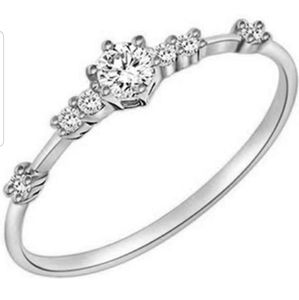 CZ and SS thin promise ring